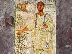 D'après Moïse et le Buisson ardent, fresque, Doura-Europos, IIIe siècle, province romaine de Syrie. (Marsailly/Blogostelle)