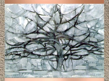 D'après L'Arbre Gris, 1912, Piet Mondrian. (Marsailly/Blogostelle)