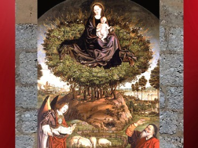 D'après la Vierge émergeant du Buisson Ardent, Nicolas Fromont, XVe siècle, Saint-Sauveur, Aix-en-provence. (Marsailly/Blogostelle)