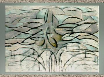 D'après le Pommier en fleurs, Piet Mondrian, 1912. (Marsailly/Blogostelle)