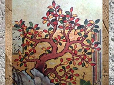 D'après un détail du Khamesh de Nizami, école de Chiraz, XVIe siècle, art persan. (Marsailly/Blogostelle)
