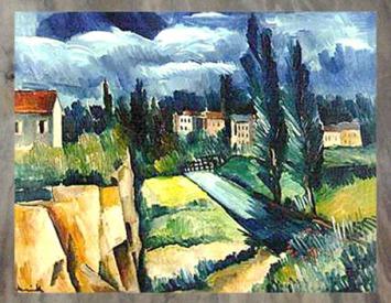 D'après les Peupliers, Maurice de Vlaminck, 1910. (Marsailly/Blogostelle)