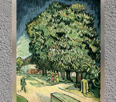 D'après Les Châtaigniers, 1890 apjc, Vincent Van Gogh. (Marsailly/Blogostelle)