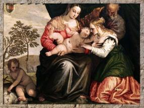 D'après le Mariage Mystique de Sainte Catherine, Véronèse, 1547 apjc, XVIe siècle, autre version. (Marsailly/Blogostelle)