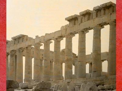 D'après le Parthénon, temple de la déesse Athéna, Ve siècle avjc, acropole d'Athènes, art grec. (Marsailly/Blogostelle)