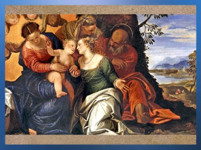 D'après le Mariage Mystique de Sainte Catherine, Véronèse, XVIe siècle, inspiré de la Légende Dorée. (Marsailly/Blogostelle)
