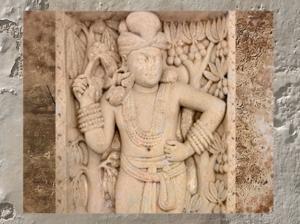 D'après l'élégance du dvarapala, Porte Est, Stupa n° 1 Sanchî, Madya Pradesh, Inde du Nord. (Marsailly/Blogostelle)