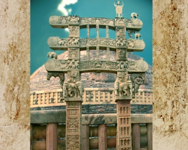 D'après le torana Est et ses éléphants, Ier siècle avjc-Ier siècle apjc, stûpa n° 1, Sânchî, Madya Pradesh, Nord, Inde ancienne. (Marsailly/Blogostelle)