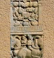 D'après le Vase d'Abondance et Animaux Fantastiques, bas-relief, Torana Nord, Sânchî 1, Inde du Nord. (Marsailly/Blogostelle.)