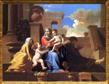 D'après La Sainte Famille à l'escalier, Nicolas Poussin 1648, XVIIe siècle, classicisme, France. (Marsailly/Blogostelle)