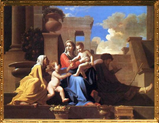 D'après La Sainte Famille à l'escalier, Nicolas Poussin 1648. (Marsailly/Blogostelle.)