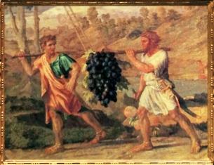D'après un détail de L'Automne, La Grappe de Raisin, Nicolas Poussin, XVIIe siècle, classicisme, France. (Marsailly/Blogostelle)