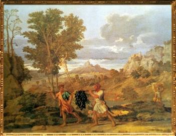 D'après L'Automne ou La Grappe de la Terre Promise, Nicolas Poussin, Les Quatre Saisons, 1660-1664, XVIIe siècle, classicisme, France. (Marsailly/Blogostelle)