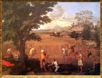 D'après L'Eté ou Ruth et Booz, Les Quatre Saisons, Nicolas Poussin, 1660-1664, XVIIe siècle, classicisme, France. (Marsailly/Blogostelle)