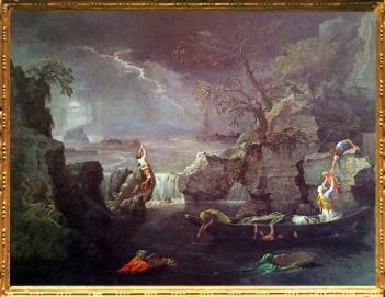 D'après L'Hiver ou le Déluge, Les Quatre Saisons, Nicolas Poussin, 1660-1664, XVIIe siècle, classicisme, France. (Marsailly/Blogostelle)