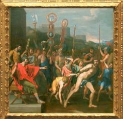 D'après Camille livre le maître d'école de Faléries à ses écoliers, 1637, Nicolas Poussin, collection de La Vrillière, Paris. (Marsailly/Blogostelle.)