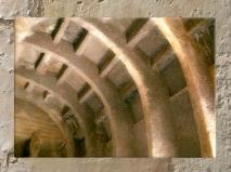 D'après la charpente du temple rupestre de Bhâja, détail, vers le Ier siècle avjc, Mahârâsthra, Sud, Inde ancienne. (Marsailly/Blogostelle)