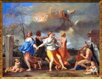 D'après La Danse de la Vie humaine, Nicolas Poussin, vers 1633-1634, XVIIe siècle, classicisme, France. (Marsailly/Blogostelle)