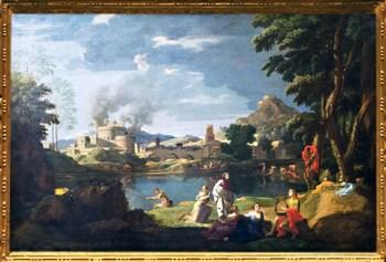 D'après Orphée et Eurydice, Nicolas Poussin, 1650-1653, XVIIe siècle, classicisme, France. (Marsailly/Blogostelle)