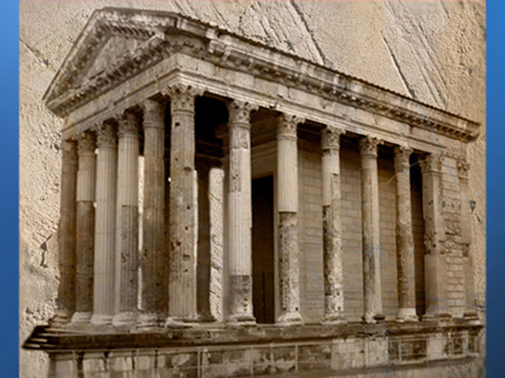 D'après le Temple d'Auguste et Livie, Vienne, vers 20-10 avjc, Gaule Romaine, Rhône-Alpes, France. (Marsailly/Blogostelle)