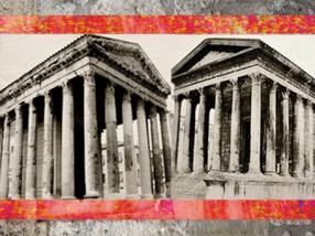 D'après La Maison Carrée, Nîmes, début du Ier siècle apjc, Gaule Romaine, Gard, France. (Marsailly/Blogostelle)