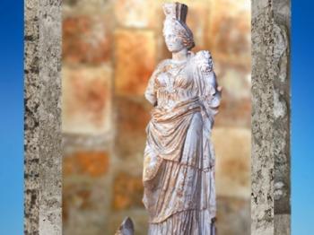 D'après Tutela ou Tyché, coiffée de sa tour, protectrice de la ville de Vienne, fin IIe - début IIIe siècle apjc, Rhône-Alpes, Gaule Romaine. (Marsailly/Blogostelle)