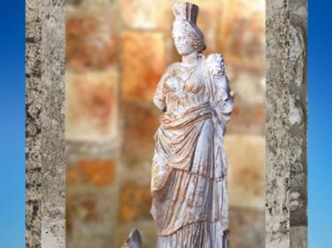 D'après Tutela ou Tyché,coiffée de sa tour,protectrice de la ville de Vienne, fin IIe - début IIIe siècle apjc, Rhône-Alpes, Gaule Romaine. (Marsailly/Blogostelle)