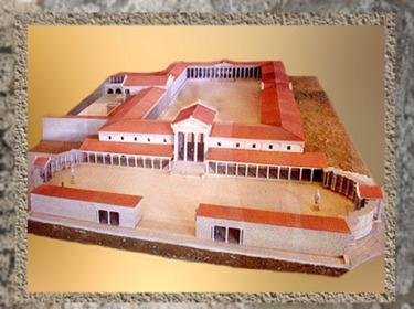 D'après la maquette du forum de la ville antique d'Arles, Ier siècle apjc, Gaule Romaine. (Marsailly/Blogostelle)