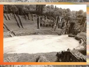 D'après l'amphithéâtre antique de Saintes,Mediolanum Santonum,Ier siècle apjc, Charente Maritime, France, Gaule Romaine. (Marsailly/Blogostelle)