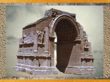 D'après l'Arc de triomphe de Saint-Remy, début du Ier siècle apjc, Gaule Romaine. (Marsailly/Blogostelle)