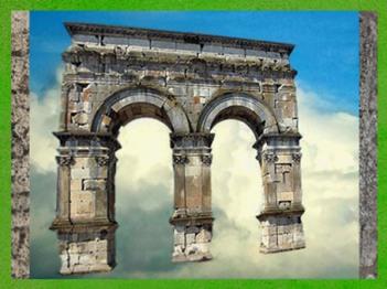 D'après l'Arc de Germanicus, début du Ier siècle apjc, Saintes, Charente-Maritime, France, Gaule Romaine. (Marsailly/Blogostelle)