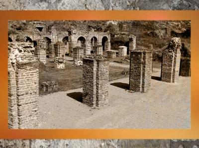 D'après les vestiges du forum antique de Bavay, Bagacum dans l'Antiquité , Ier - IIIe siècle apjc, Nord, France, Gaule Romaine. (Marsailly/Blogostelle)