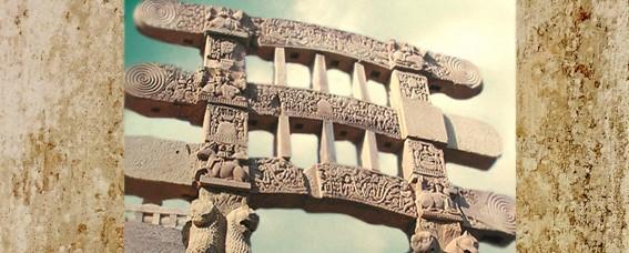 Arts de l'Inde Ancienne, les sculptures bouddhiques foisonnent àSânchî