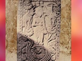 D'après la déesse Lakshmî, balustrade, stûpa n° 1 Sanchî, Madya Pradesh, Inde du Nord. (Marsailly/Blogostelle)