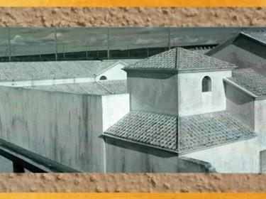 D'après la maquette des Thermes de Barzan, IIe siècle apjc, Charente-Maritime, France, Gaule Romaine.(Marsailly/Blogostelle)