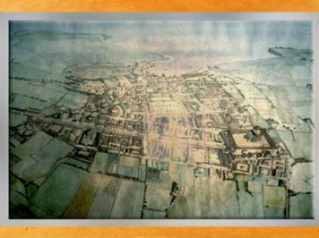 D'après une carte de l'antique cité portuaire dite Novioregum, Barzan, IIe-IIIe siècle apjc, Charente-Maritime, France, Gaule Romaine. (Marsailly/Blogostelle)