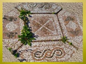 D'après une mosaïque, Thermes de Barzan, vers IIe siècle apjc, Charente-Maritime, France, Gaule Romaine.(Marsailly/Blogostelle)