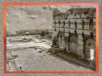 D'après les thermes de Cemenelum, bains publics antiques, IIe- IIIe siècles apjc, Nice, Gaule Romaine, Alpes-Maritimes, France. (Marsailly/Blogostelle)