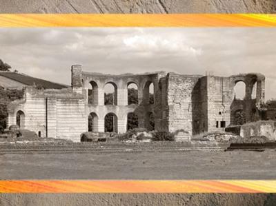 D'après les vestiges des Thermes de Trèves, construits et remaniés au IVe siècle apjc, Allemagne, époque de la Gaule Romaine. (Marsailly/Blogostelle)
