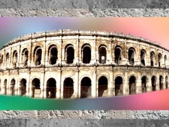 D'après les antiquesArènes de Nîmes et ses arcades, Ier -IVe siècle apjc, France, Gaule Romaine. (Marsailly/Blogostelle)