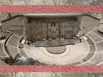 D'après le Théâtre d'Orange, Ier siècle apjc, Gaule Romaine, vallée du Rhône, France. (Marsailly/Blogostelle)