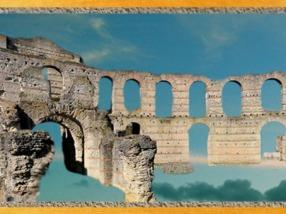 D'après les vestiges de l'amphithéâtre de Burdigala dit Le Palais Gallien, Bordeaux, Ier-IIIe siècle apjc, Gaule Romaine, Gironde, France. (Marsailly/Blogostelle)