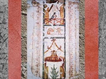 D'après des peintures murales, architecture en trompe-l'œil, IIe siècle apjc, Narbonne, Languedoc-Roussillon, France, Gaule Romaine. (Marsailly/Blogostelle)