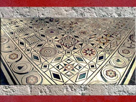 D'après un pavement de sol, Ier-IVe siècle apjc, Lyon, France, Gaule Romaine. (Marsailly/Blogostelle)