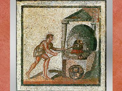 D'après le Four à Pain, mosaïque Saint-Romain-en-Gal, IIIe siècle apjc, Gaule Romaine. (Marsailly/Blogostelle)