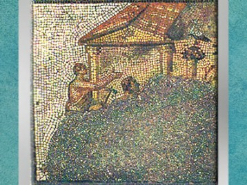 D'après les Cigognes, mosaïque Saint-Romain-en-Gal, IIIe siècle apjc, Gaule Romaine. (Marsailly/Blogostelle)