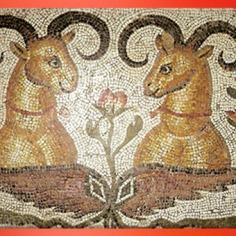 D'après une mosaïque d'Antioche, marbre et calcaire, IVe siècle apjc, Empire Romain. (Marsailly/Blogostelle)