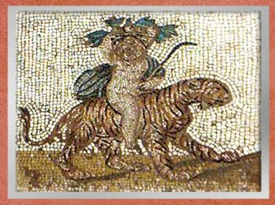 D'après l'Automne, mosaïque Saint-Romain-en-Gal, IIIe siècle apjc, Vienne, Rhône-Alpes, Gaule Romaine. (Marsailly/Blogostelle)
