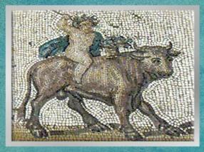 D'après le Printemps, mosaïque Saint-Romain-en-Gal, IIIe siècle apjc, Vienne, Rhône-Alpes, Gaule Romaine. (Marsailly/Blogostelle)