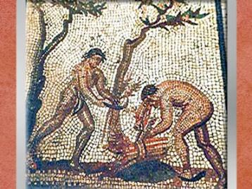 D'après les Fagots, mosaïque Saint-Romain-en-Gal, IIIe siècle apjc, Gaule Romaine. (Marsailly/Blogostelle)